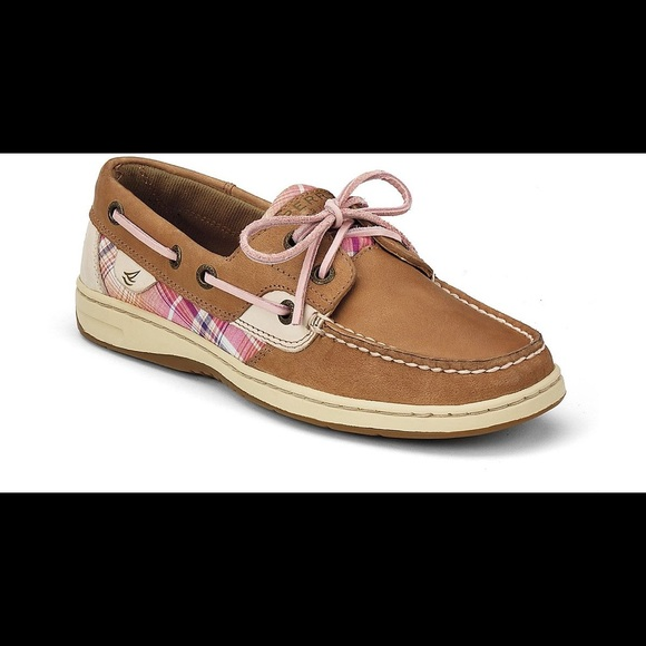e90988e140f Sperry Top-Sider Pink Plaid Bluefish Boat Shoe